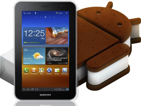 Samsung Galaxy Tab 7 Plus with Android 4 (ICS)
