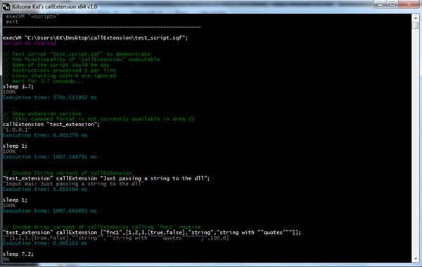 Arma 3 Extension Tester (callExtension.exe, callExtension_x64.exe)